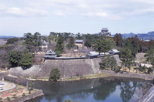 松江城周囲の景観