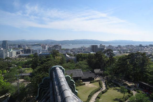 松江市内の眺め
