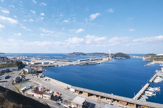 浜田漁港の風景